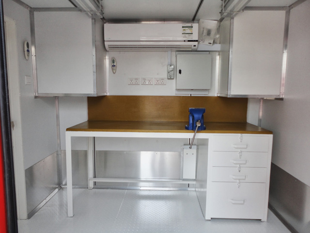 20ft Offshore Workshop Container_Interior