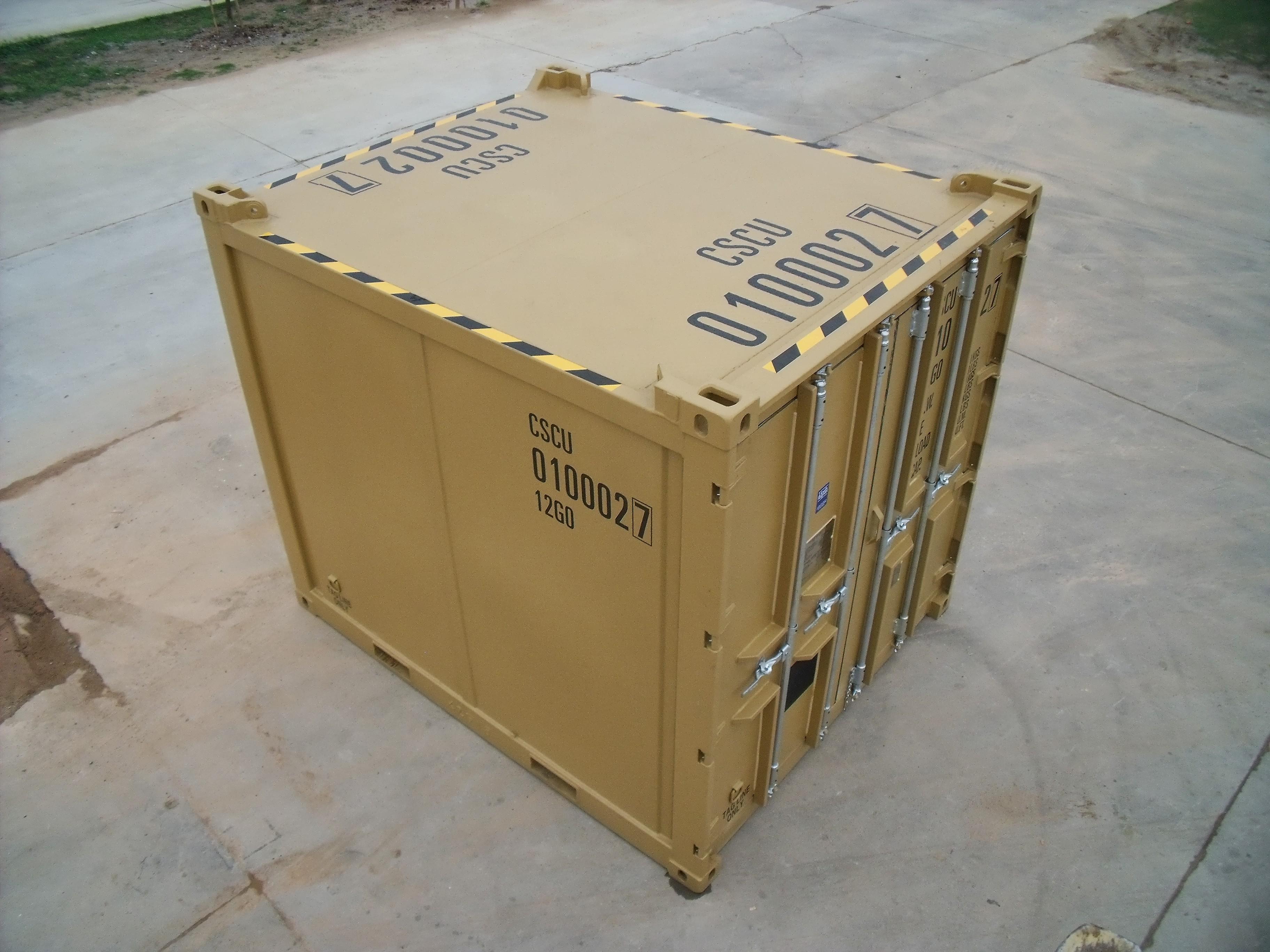 10ft 2.7-1, EN 12079 offshore container - Exterior